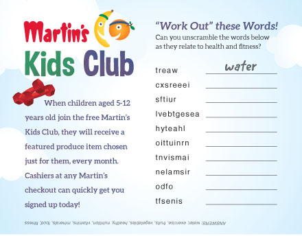 Kids Zone - Healthy Word Scramble
