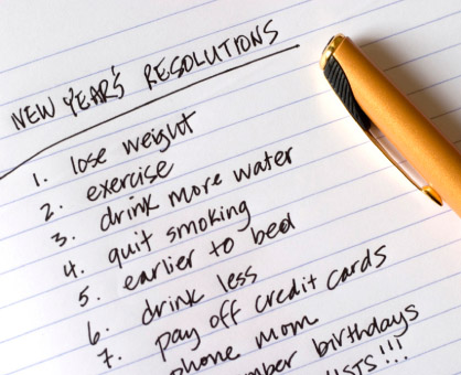 Making New Year's Resolutions a reality!
