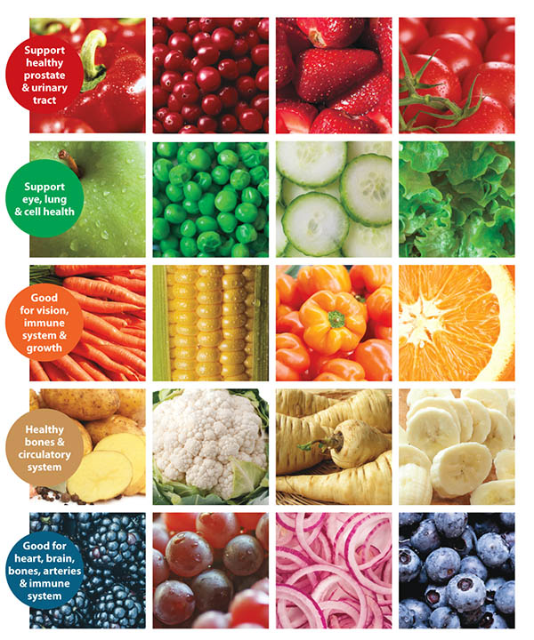 - Fruits & Veggies: Color Matters